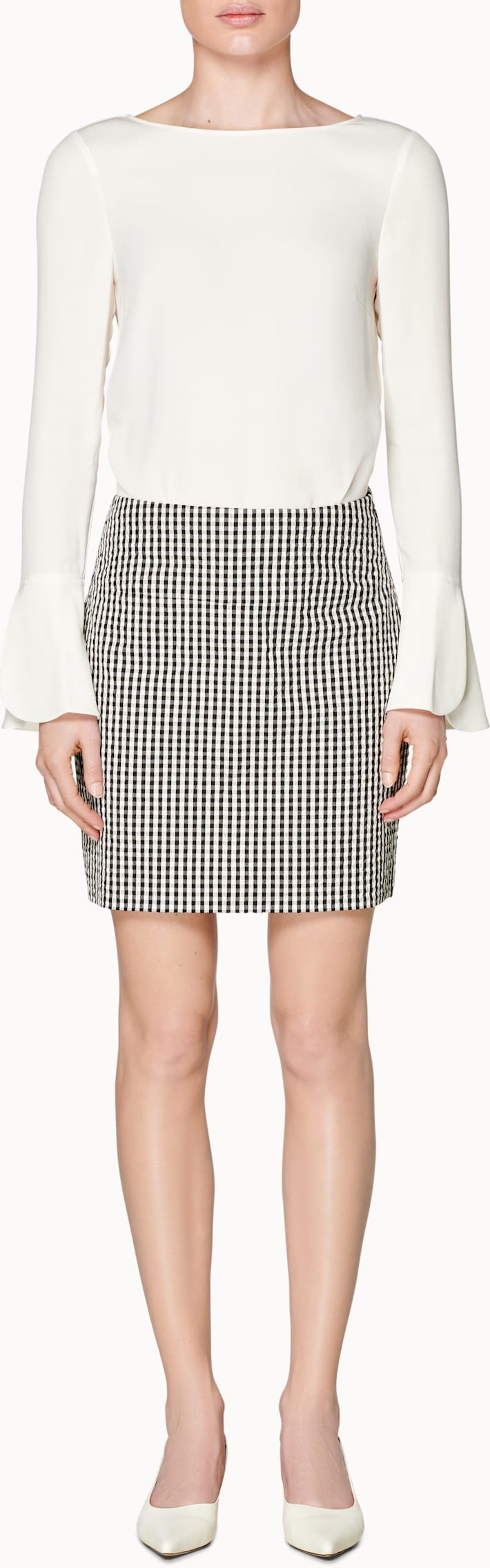 Ace Black & White Gingham Skirt