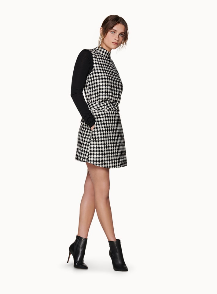 Calvin Black & White Houndstooth Skirt