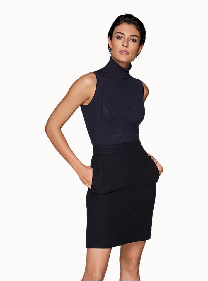 Aspen Navy  Skirt