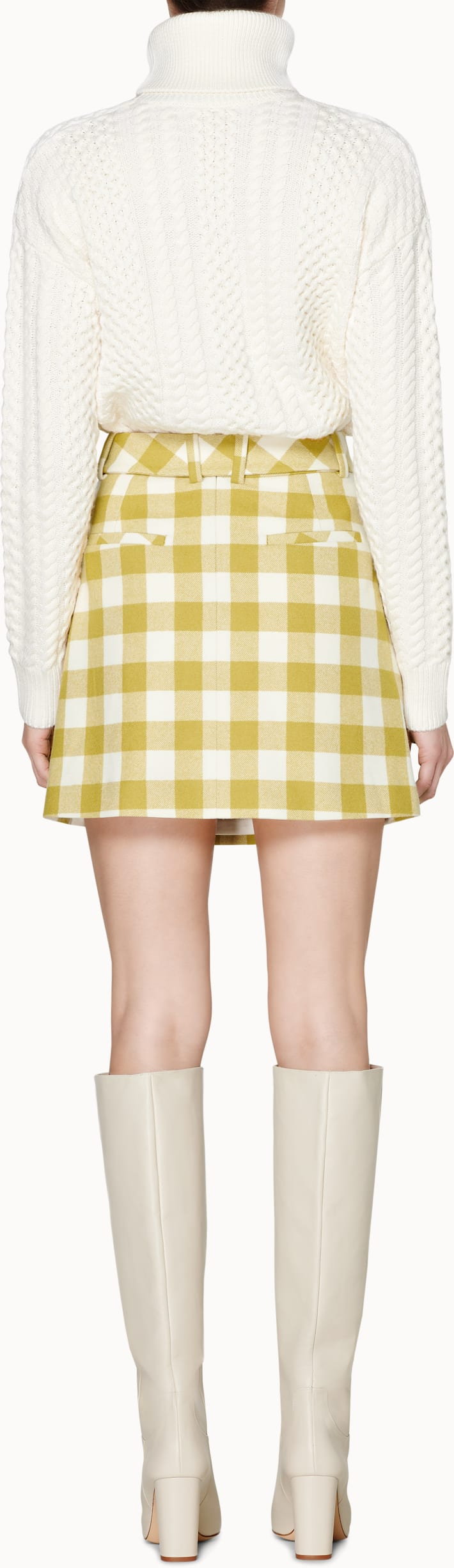 Calvin Green Checked Skirt