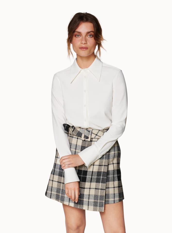 Calvin Brown Plaid Skirt