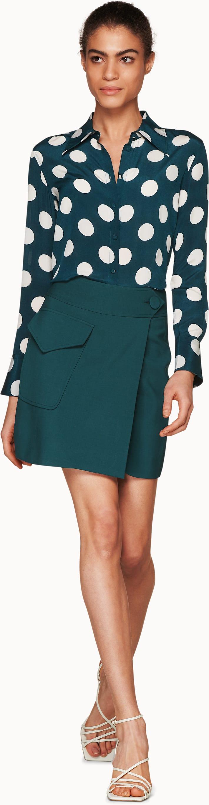 Darwin Teal  Skirt