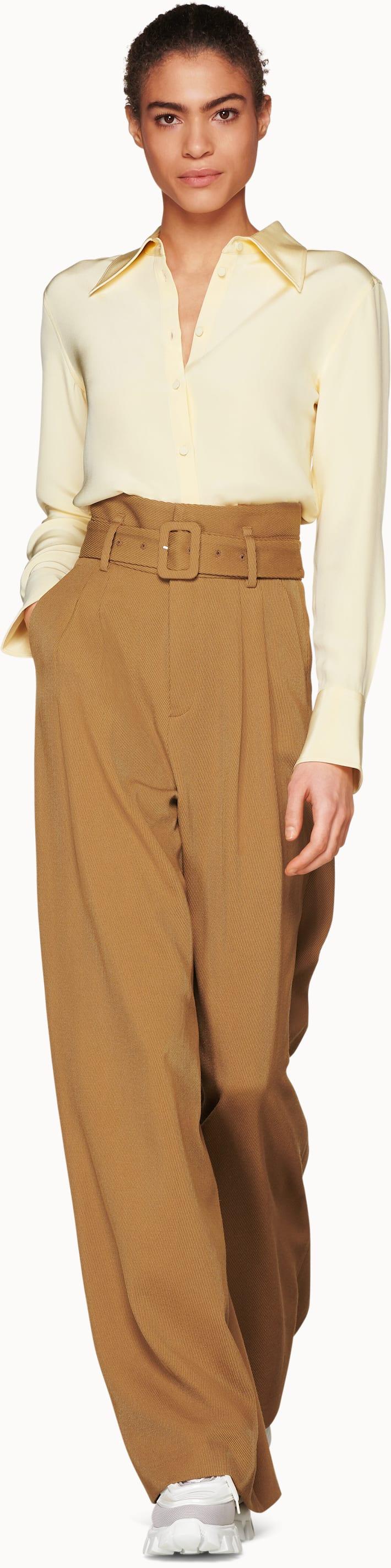 Alec Pale Yellow  Silk Shirt