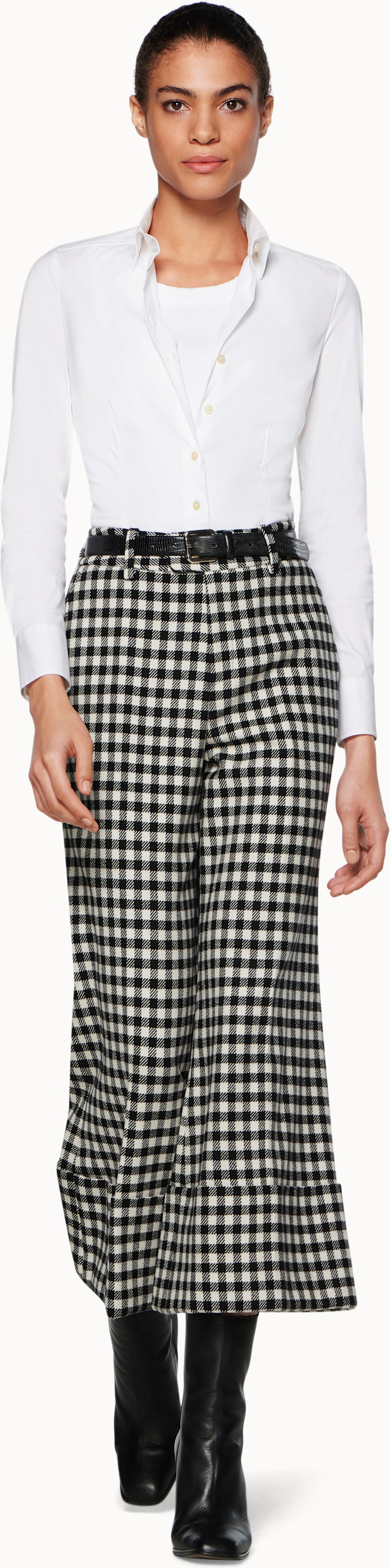 Lane Black Checked Trousers