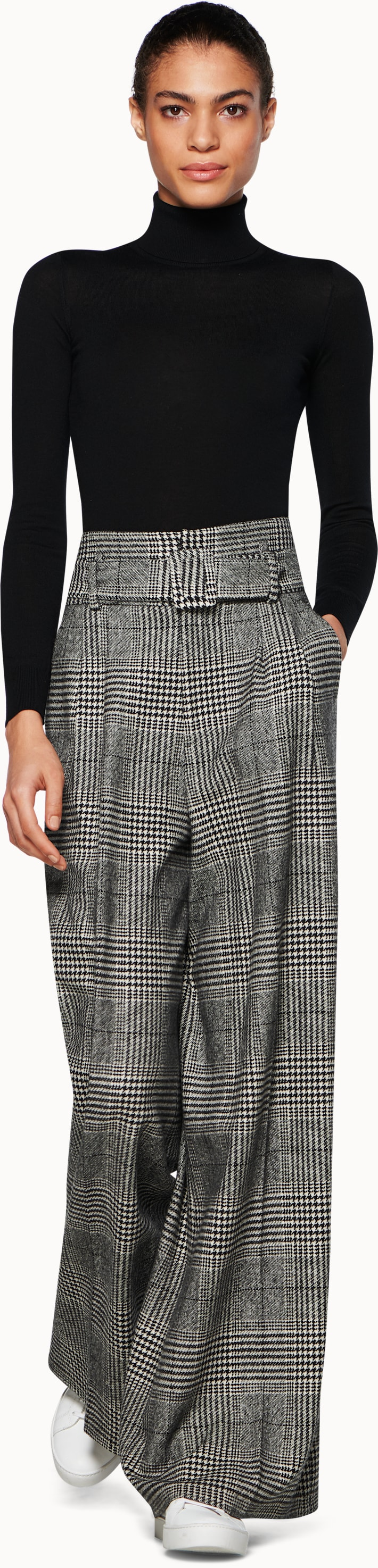 Ally Grey Checked Trousers