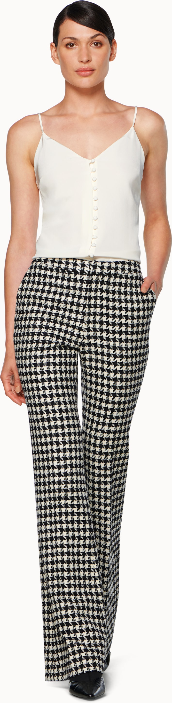 Robin Black & White Houndstooth Trousers