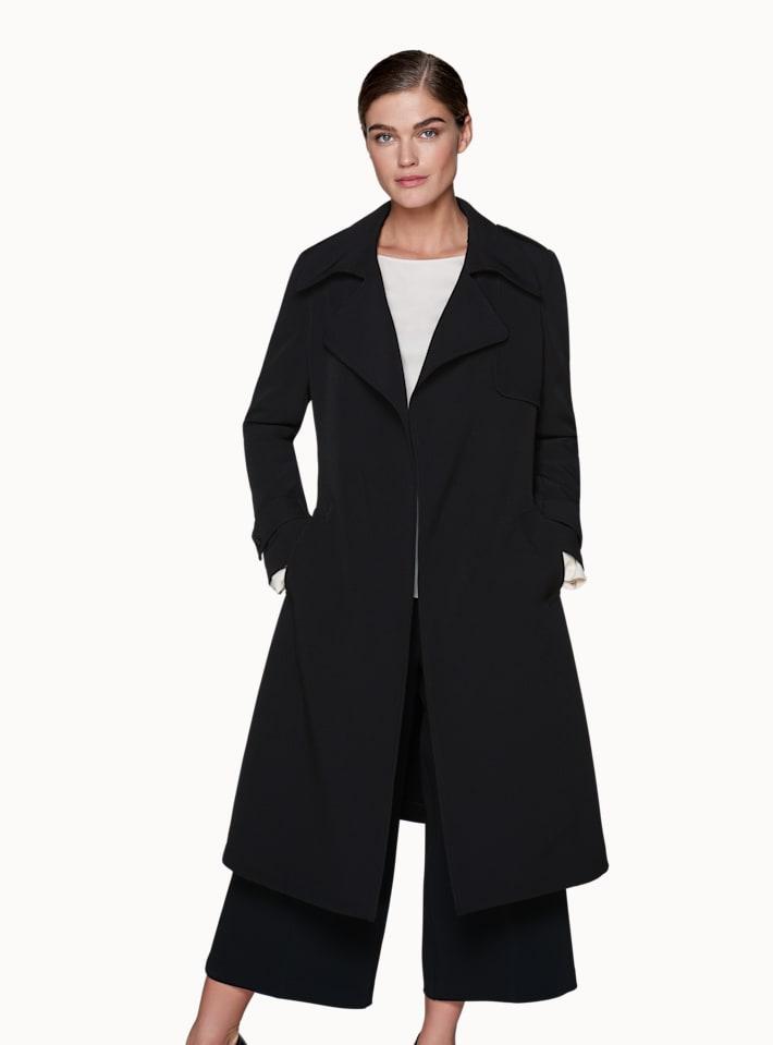 Quin Black  Trench Coat