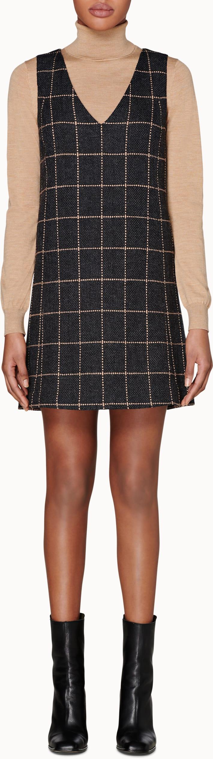 Cedar Grey Checked Dress