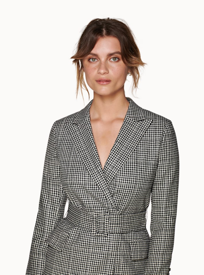 Connor Black Checked Dress