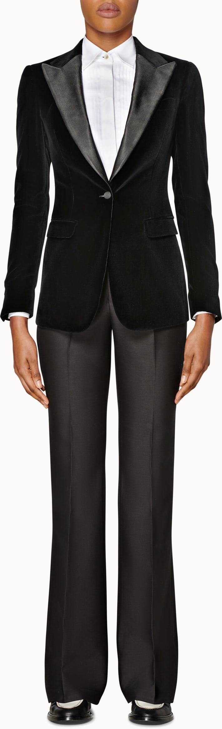 Cameron Black  Velvet Tux Jacket