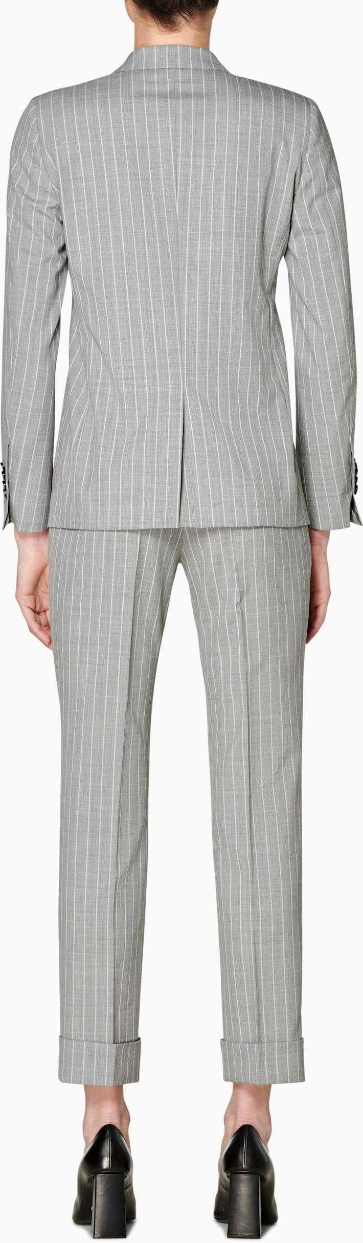Joss Light Grey Striped Suit