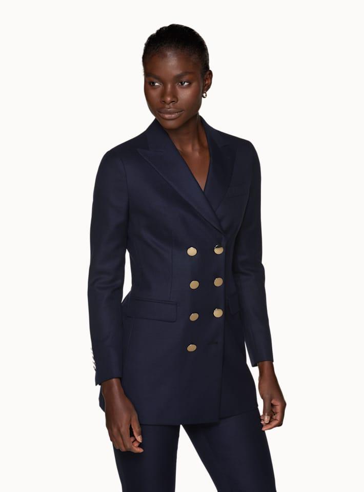 Cameron Navy Golden Button Suit
