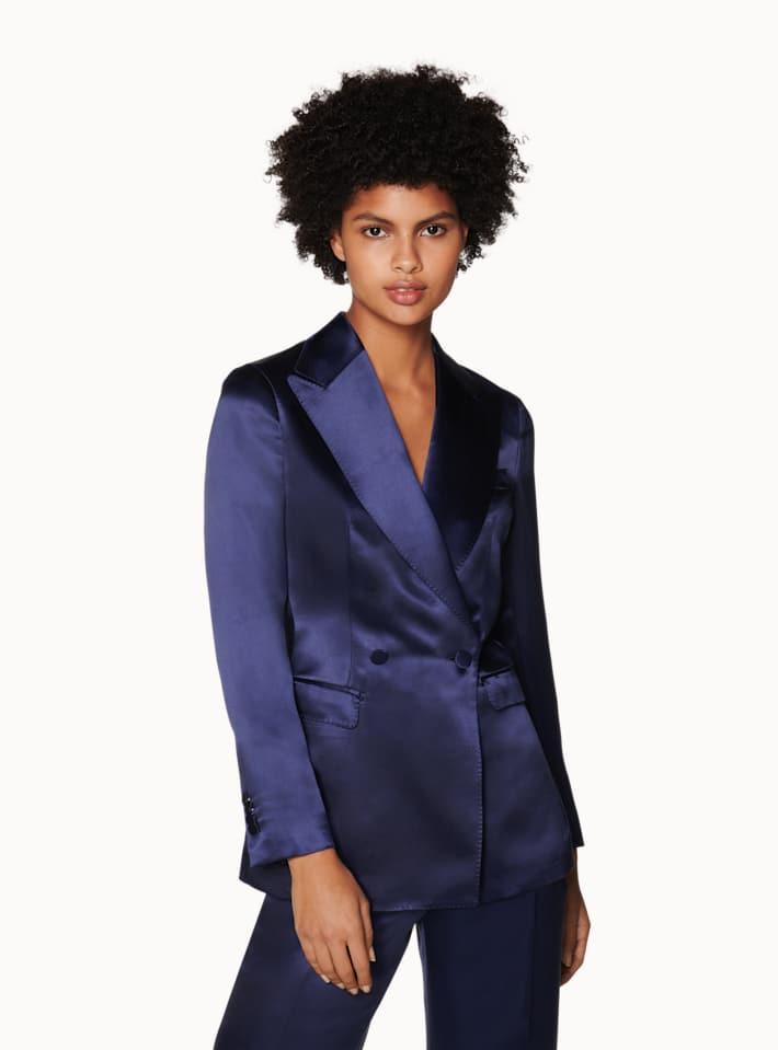 Cameron Navy Silk Suit