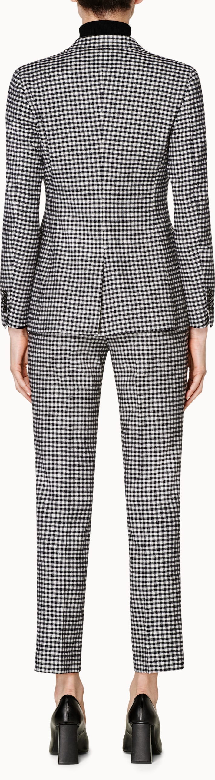 Cameron Black & White Checked Suit