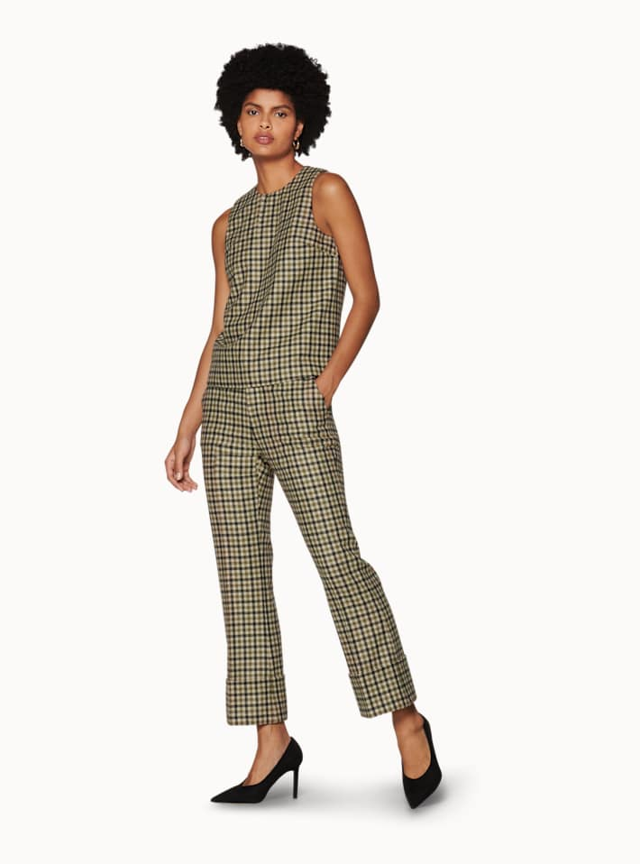 Sage Green Checked Two-Piece