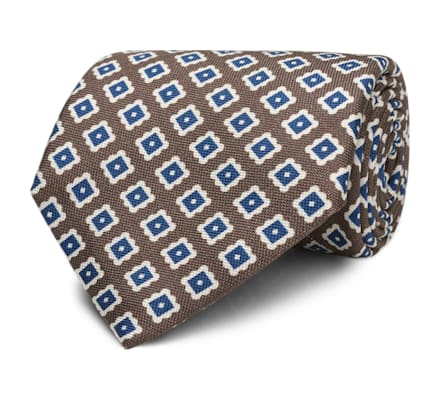 Brown Graphic Tie