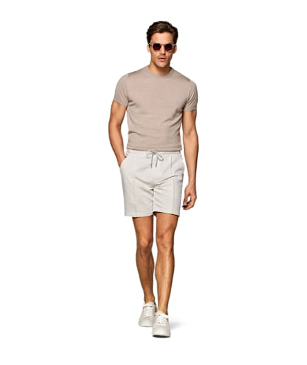 Sand Ames Pleat Short