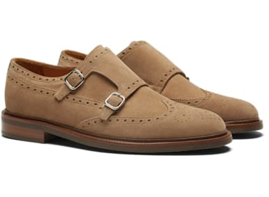 Light Brown Double Monk Strap