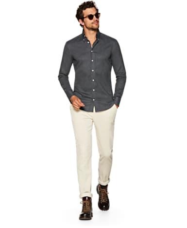Dark Grey Flannel Shirt