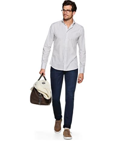 Light Grey Stripe Shirt