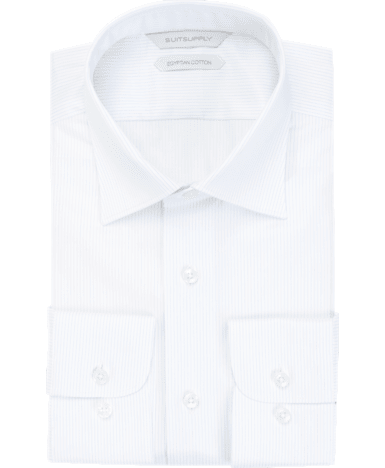 White Stripe Twill Shirt