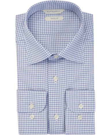 Navy Check Traveller Shirt