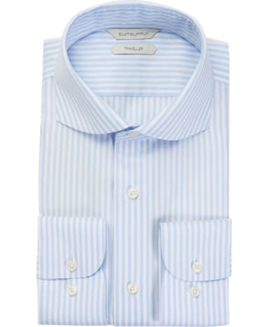 Light Blue Stripe Traveller Shirt