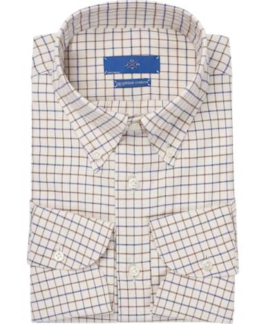 Jort Brown Check Flannel Shirt