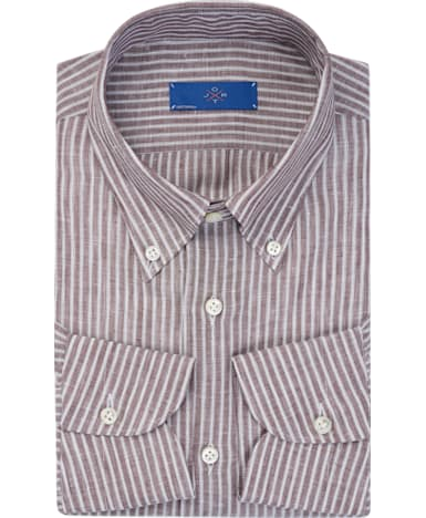 Jort Brown Stripe Shirt