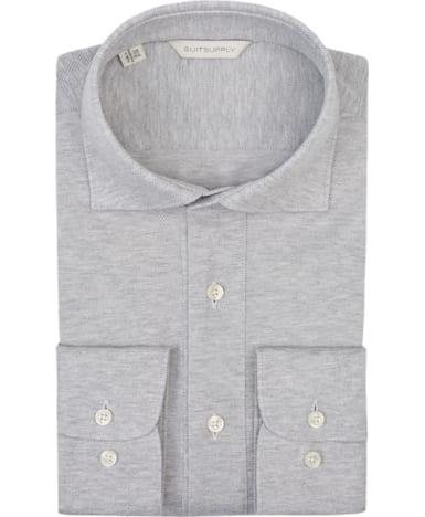 Grey Plain Shirt Polo