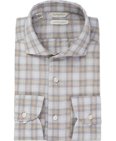 Light Grey Check Shirt