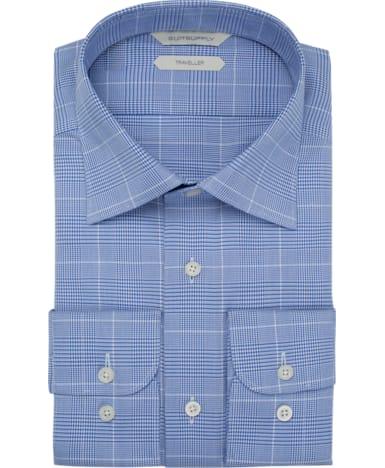 Blue Check Traveller Shirt
