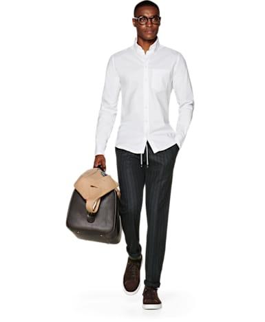 White Plain Flannel Shirt