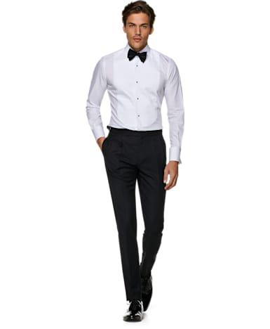 White Plain Tuxedo Shirt