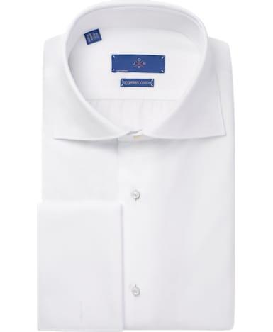 Jort White Plain Tuxedo Shirt