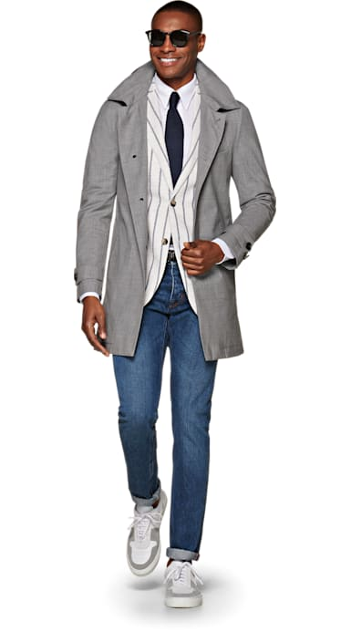 Light Grey Raincoat