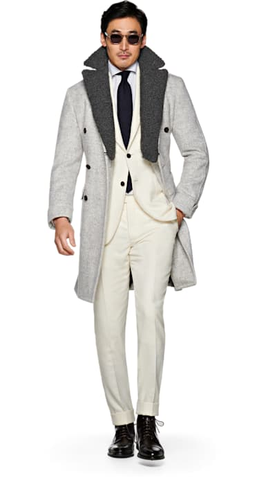 Light Grey Coat Jort