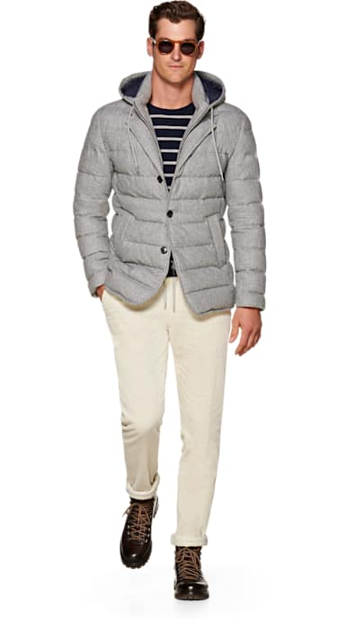 Light Grey Down Jacket
