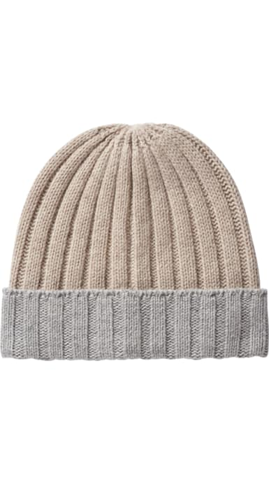 Light Brown & Light Grey Beanie