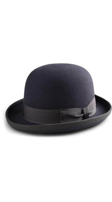 Grey Jort Bowler Hat