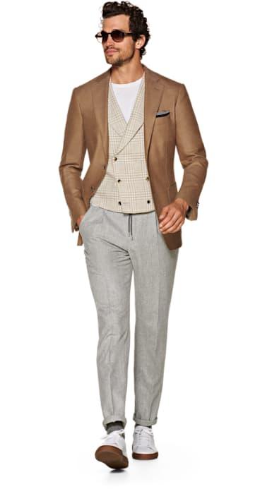 Havana Brown Plain Jacket