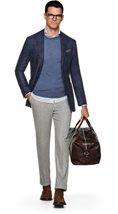 Havana Blue Check Jacket