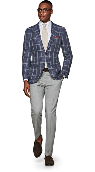 Jort Blue Check Jacket