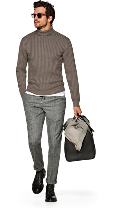 Taupe Turtleneck