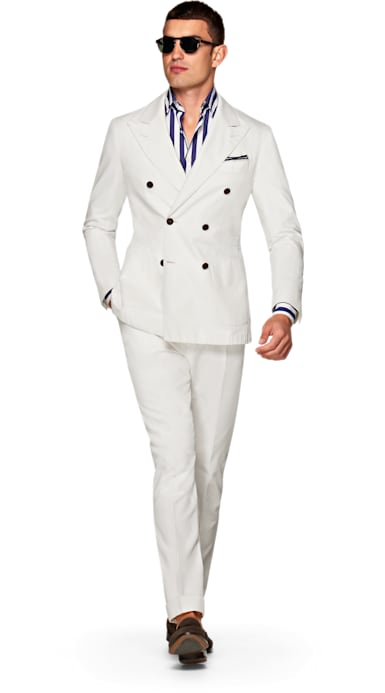 Jort Off White Suit