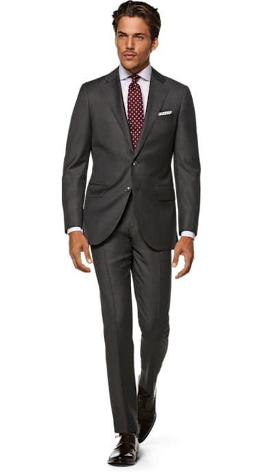 Lazio Grey Plain Suit