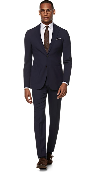 Havana Navy Plain Suit