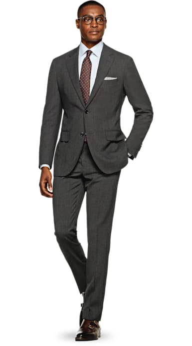 Havana Grey Plain Suit