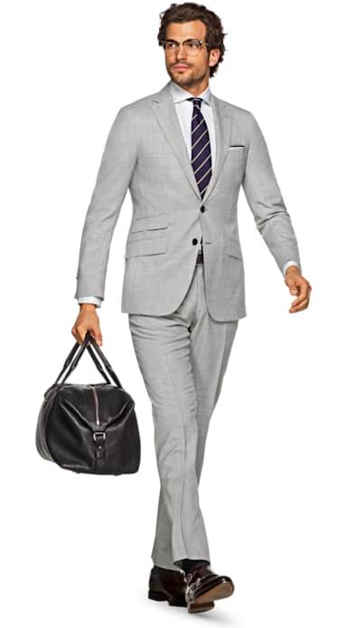 Sienna Light Grey Plain Suit