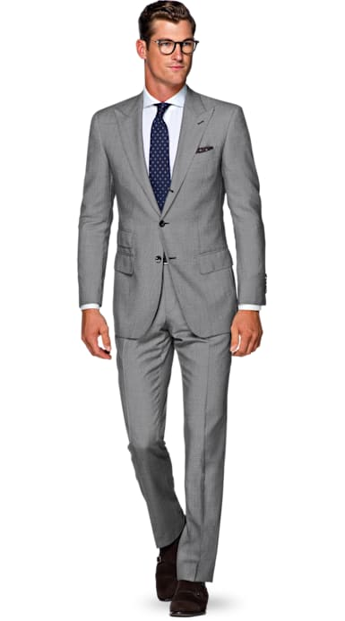 Washington Grey Bird's Eye Suit